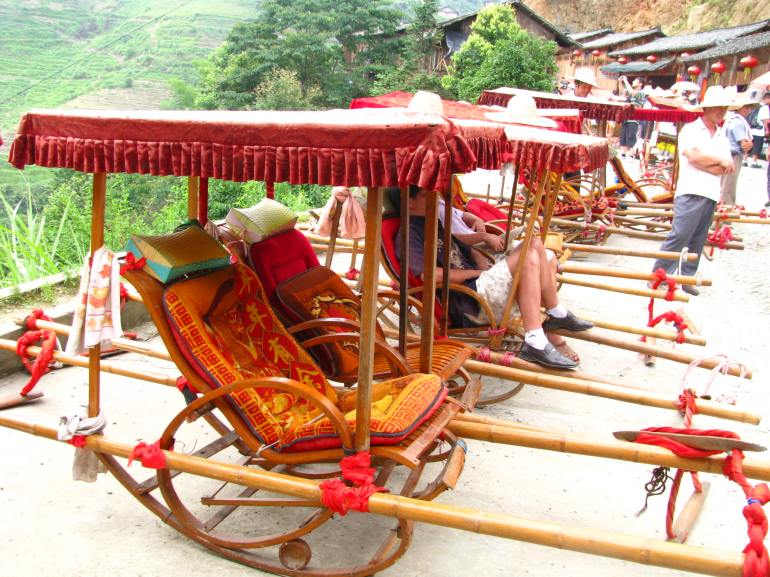 In case you're too tired to climb the rice terraces, you got this for your ride